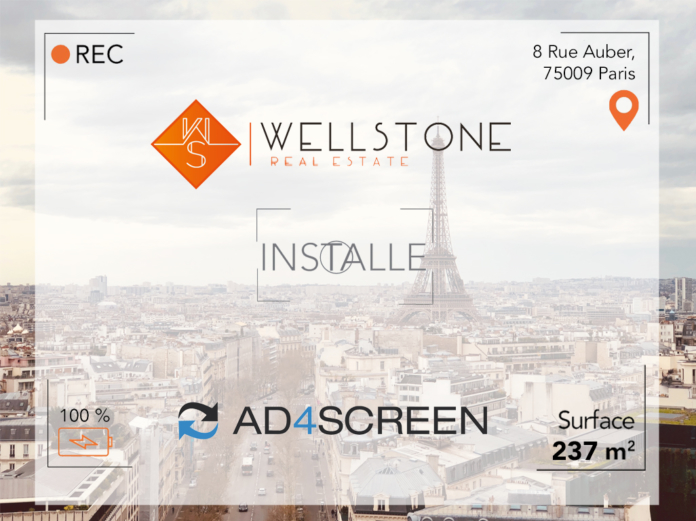 Wellstone installe Ad4Screen