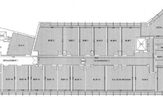 A LOUER Bureaux 1102m2 ref 991595
