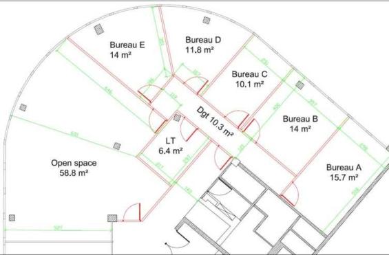 A LOUER Bureaux 159m2 ref 991563