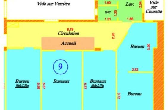 A LOUER Bureaux 649m2 ref 965088