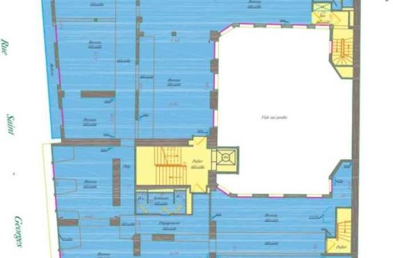 A LOUER Bureaux 988m2 ref 992274