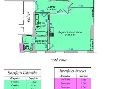 A LOUER Bureaux et Locaux professionnels 106m2 ref 957905